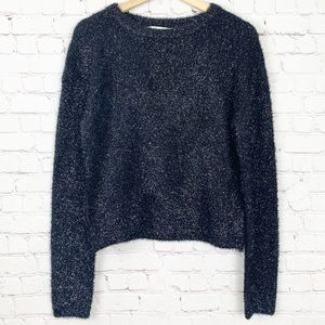 Astr Black Fuzzy Sweater